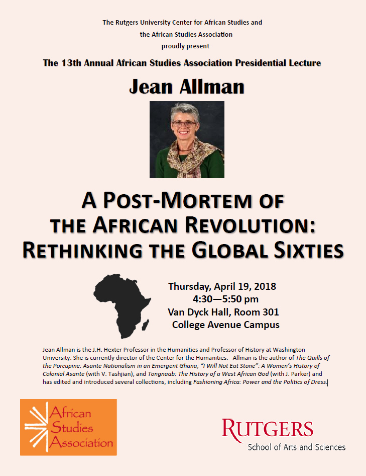 A Post-Mortem of the African Revolution: Rethinking the Global Sixties
